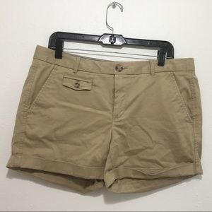 Banana Republic Khaki Tan Shorts Size 12